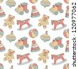 retro toys seamless pattern - stock