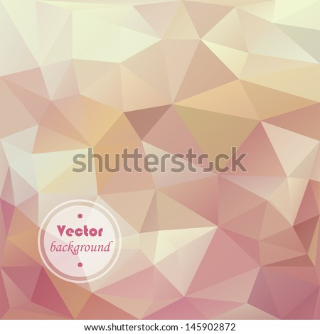 Retro triangle vector pattern. Geometric triangle mosaic background - stock vector