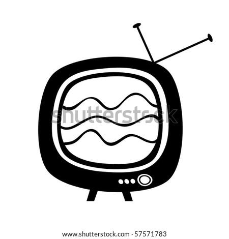 Retro tv. - stock vector