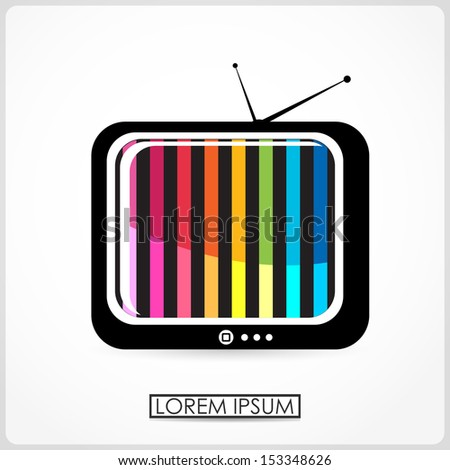 Retro TV isolated on white. vector - stock vector