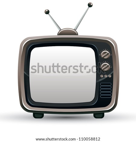 Retro TV set, vector illustration.