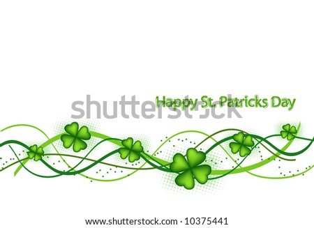 retro vector background for St. Patrick's Days - stock vector