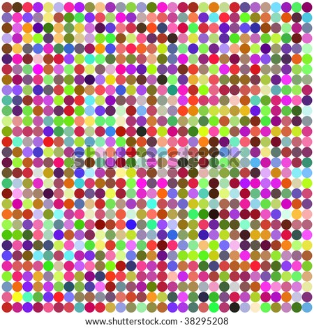 Retro vector circle multicolored abstract pattern - stock vector