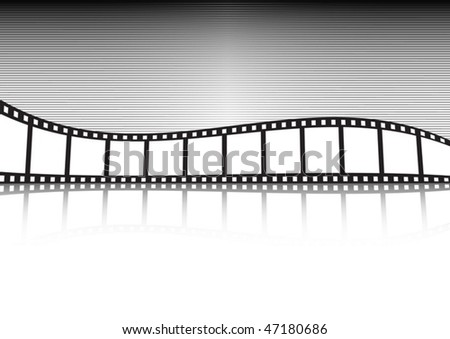 Retro vector film strip