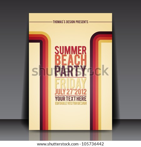Retro Flyer Images RoyaltyFree Images Vectors – Retro Brochure Template