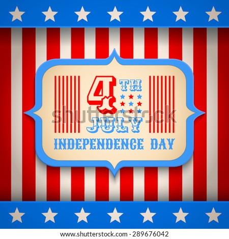 Retro vector poster for USA independence day - stock vector
