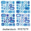 retro vector rectangles pattern - stock photo