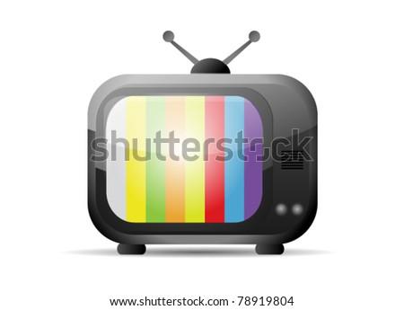Retro Vector Television - stock vector