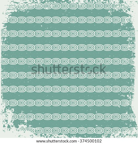 Retro Vintage Background with pattern - stock vector