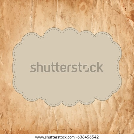 Retro vintage banner on the old paper background. Vector illustration