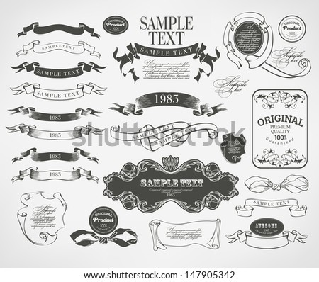 Retro vintage calligraphic design elements and page decoration - stock vector