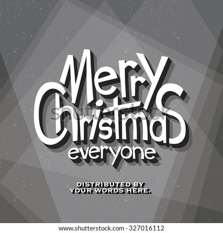 Retro Vintage Cinematic End Credits - Merry Christmas - Vector Background - stock vector