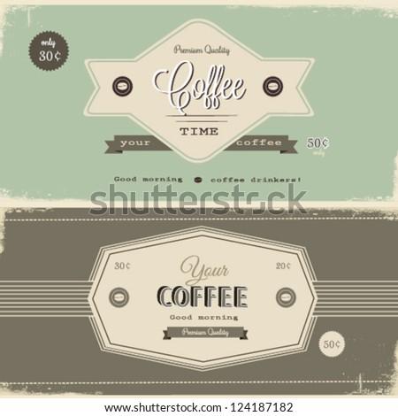 Retro vintage coffee Background - stock vector