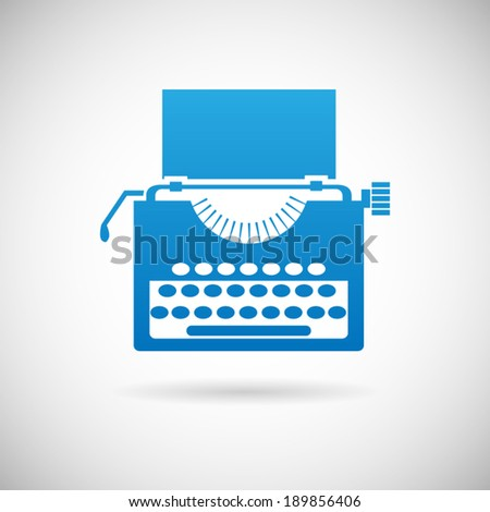 Retro Vintage Creativity Symbol typewriter Icon Design Template Vector Illustration - stock vector