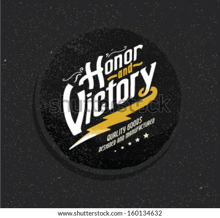 Retro vintage handmade labels for printing 3 - stock vector
