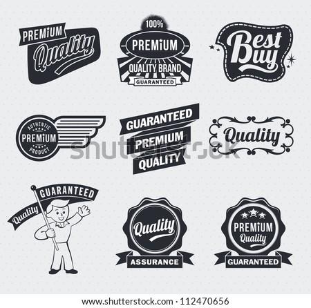 Retro Vintage Labels - stock vector