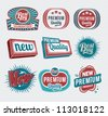 Retro vintage labels and badges - stock photo