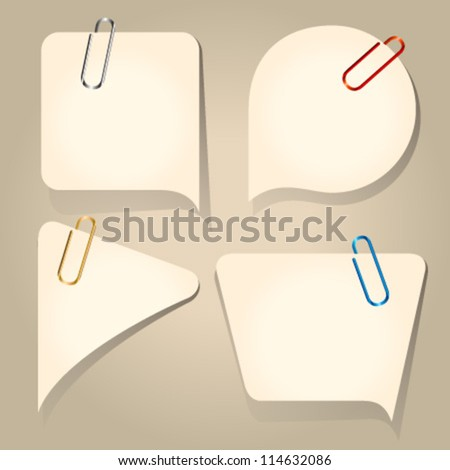 retro vintage speech bubbles paper notes