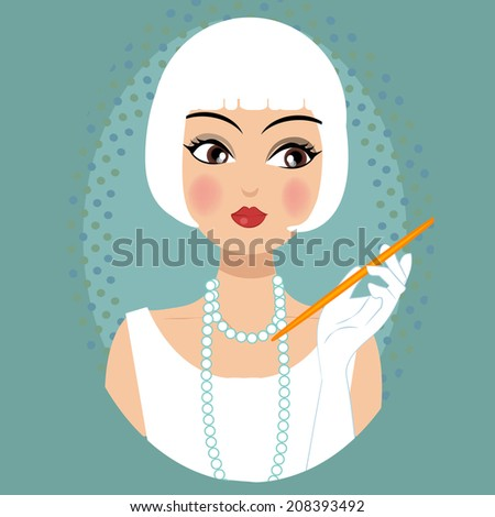 retro vintage stylish fashionable character illustration
