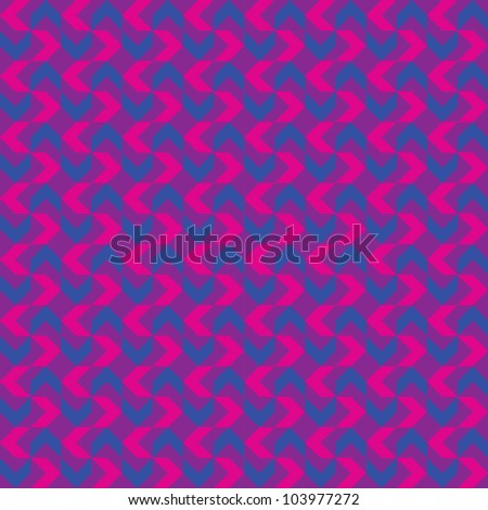 Retro Waves Pattern - stock vector