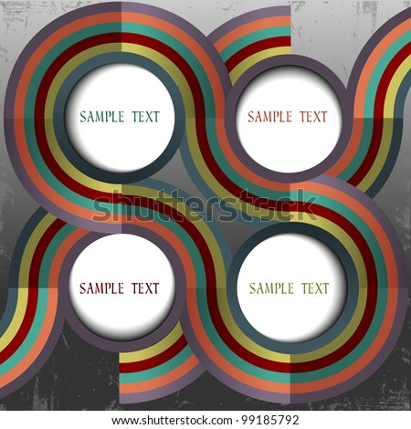 Retro web design with place for text.Vector eps 10 - stock vector