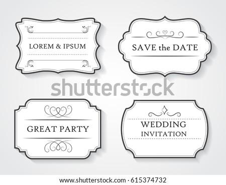 Retro wedding labels vector vintage frames perfect invitations stock retro wedding labelsctor vintage framesrfect for invitations stopboris Image collections