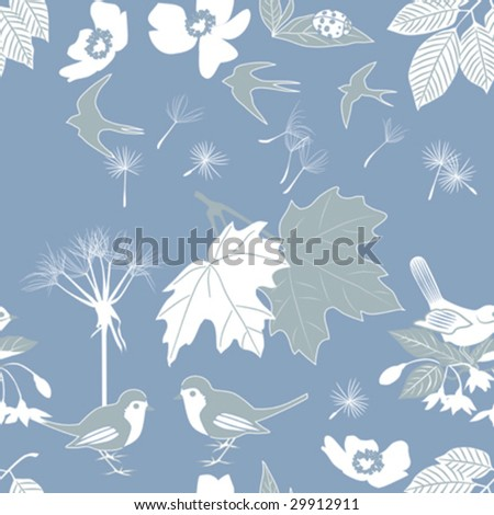 Return to Nature; Seamless Vector background tile - stock vector