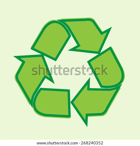 Reuse, reduce, recycle design - stock vector