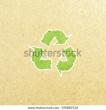 Reuse, reduce, recycle poster design on paper. - stock vector