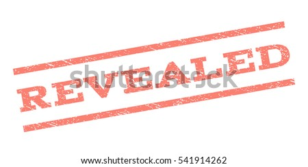 Revealed watermark stamp. Text tag between parallel lines with grunge design style. Rubber seal stamp with dirty texture. Vector color ink imprint on a white background.