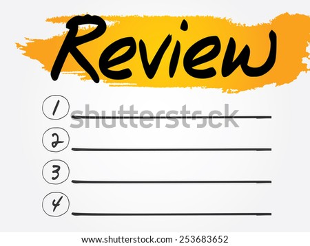 Review Blank List, vector concept background - stock vector