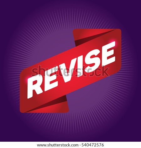 REVISE arrow tag sign.
