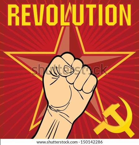 Revolution, general strike, workers resistance poster  - stock vector