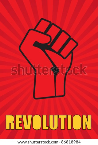 Revolutionary Fist - stock vector