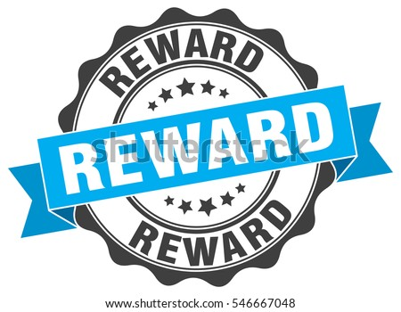 Reward Stamp Sticker Seal Round Grunge Stock Vector