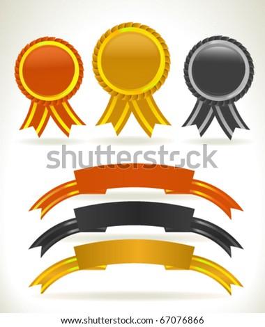 Rewards and Ribbons - stock vector