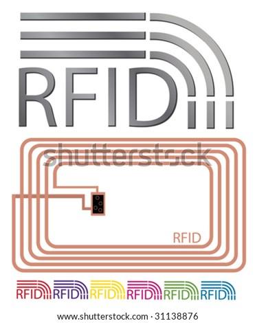 RFID set 1 - stock vector
