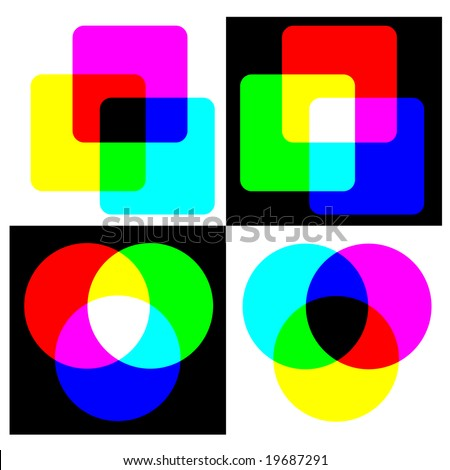 RGB and CMYK color swatch - also available as JPEG - stock vector