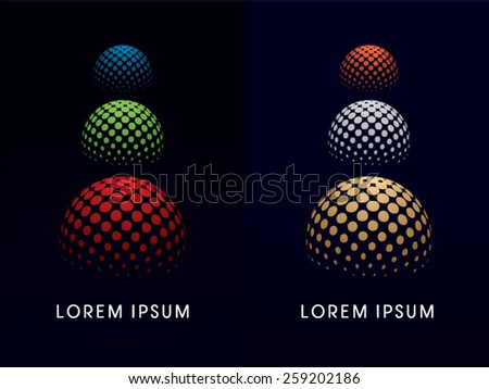 RGB colors Sphere ,abstract building, logo, symbol, icon, graphic, vector.