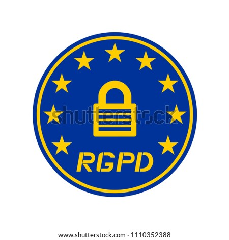 Rgpd Data Protection Symbol Spanish Stock Vector Royalty Free