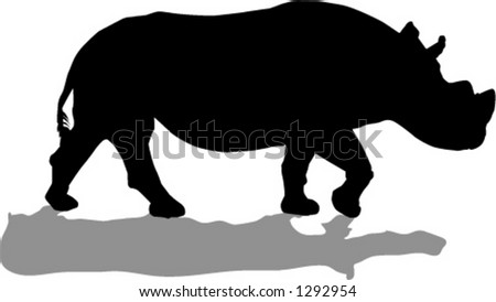 rhino - stock vector