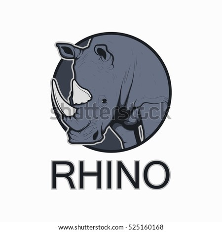 rhino vector illustration logo templates stock vector 525160168