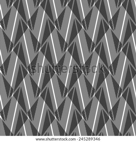 Rhombus pattern as draperies, seamless line background, vector. - stock vector