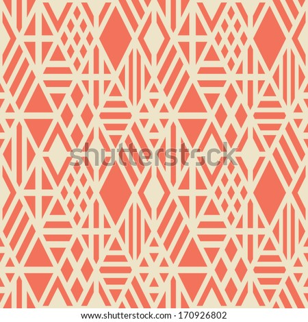Rhombuses seamless pattern. Vector geometric background. - stock vector