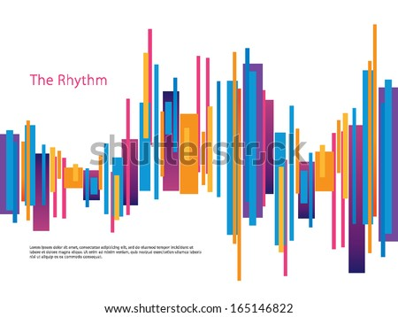Rhythm Design Template - stock vector