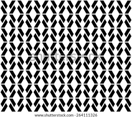 Rhythm vector seamless pattern. Endless texture can be used for wallpaper, pattern fills, web page background,surface textures, fabric and paper. Connecting monochrome geometric lattice argyles.  - stock vector