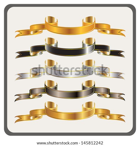 Ribbon Banner Collection - vector illustrations - stock vector