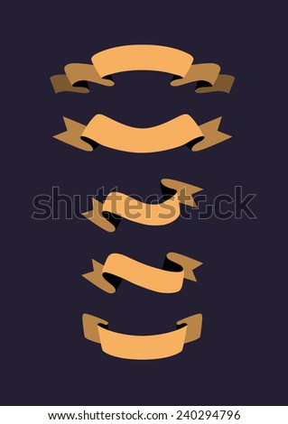 Ribbon banner set in flat design