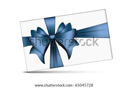 Ribbon Bow | Vector Christmas Card - stock vector