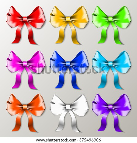 Ribbon bows Vector illustration